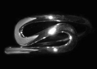 S Design Sterling Silver Ring