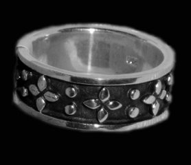 Raised Strong Sterling Silver Ring