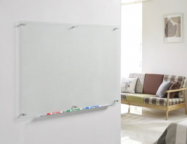 Clear Glass Dry Erase Board 35 12 X 47 14 With Aluminum Marker