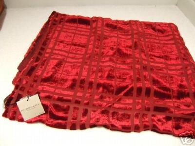 NWT Red Velvet & Silk Scarf Wrap Shawl Retail $425 One Size