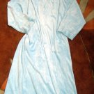 NEW Karen Neuburger VELOUR Sky Blue BATHROBE Robe Small