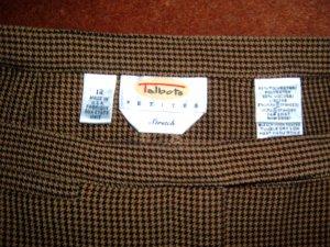 "Talbots Houndstooth Women's Dress Pants 12P 29"" Ins"