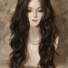 Heat OK Lace Front Wig Long Wavy Brown Auburn