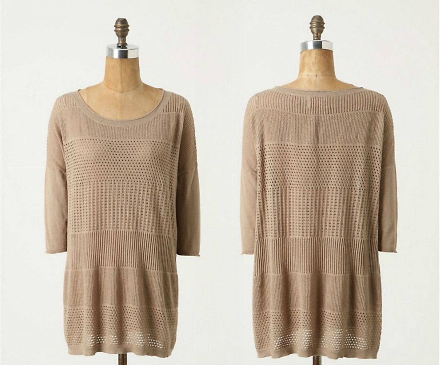 Anthropologie Heat Index Pullover Sweater by Yoon M Neutral NWT @LOOK@ Cashmere