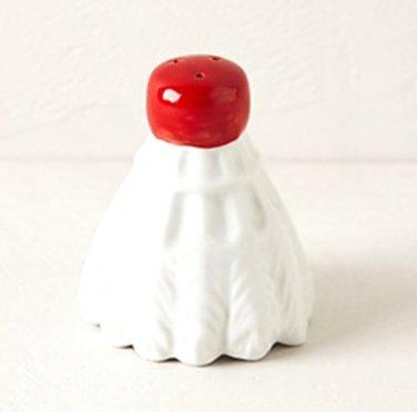 Anthropologie Badminton Salt or Pepper Shaker Red & White