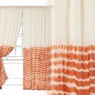 "1 Panel Anthropologie Bamoko Curtain 50"" x 108"" NWT Orange Hand Dyed"