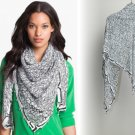 Diane von Furstenberg New Bubsy Two Silk & Cotton Scarf DVF Ikat Rain Combo