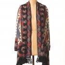 Anthropologie Vinalhaven Cardigan Medium 6 8 Guinevere Merino Wool Paisley Shawl NWT
