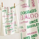 Anthropologie Wordsmith Dishtowel Cotton