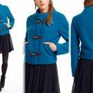 4 Anthropologie Clasped Cerulean Jacket Small Wool Leifsdottir $268