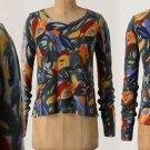 M Anthropologie Swirled Seasons Sweater Medium Merino Wool $128 Zoologist 6 8