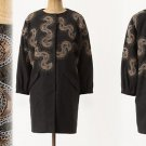 4 Anthropologie Small Sungazer Wool Coat Spiky Embroidery