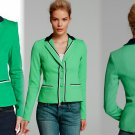 Nanette Lepore Queen For Tonight Blazer Jacket 4 Small Green Navy White