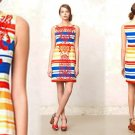 10P Anthropologie Banded Totem Shift Dress Sheath Large Petite Tabitha Embroidered