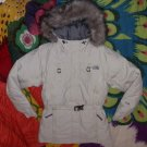 XS North Face Arctic Parka Down Short Version Jacket Ivory Womens Vintage XSmall