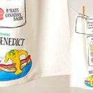 Anthropologie Recipe Dishtowel Eggs Benedict Cotton Machine Wash