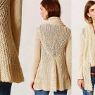 S Anthropologie Sirretta Cardigan Small 2 4 Ivory Knitted & Knotted