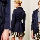 Anthropologie Simone Trench Coat Small 2 4 Navy Blue Love & Liberty