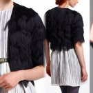 S Anthropologie Zigzag Fringe Jacket Black $248 Small Tracy Reese 2 4