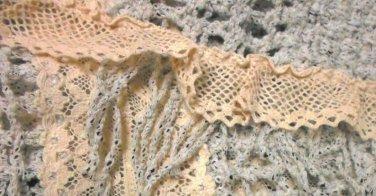 51da691d7e1b S Anthropologie Salt & Pepper Fringe Cardigan Small 2 4 Cardi Grey Knitted  & Knotted NWT