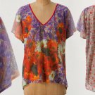 XS / S Anthropologie Panoramic V-Neck Top Blouse XSmall / Small $78