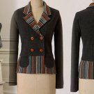 S Anthropologie In-The-Lines Wool Sweater Sparrow Small Wool Cardigan Jacket Grey 2 4