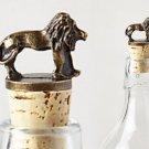 Anthropologie Safari Bottle Stopper Lion Cork Host Father Dad Gift Bar Utensil