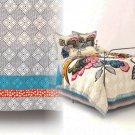 Anthropologie Laelia Twin Bed Skirt Cotton Voile Bedskirt Blue Grey Orange