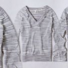 LP Anthropologie Long Sleeve Spacedye Pullover 10 12 Large Petite Grey