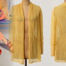 Anthropologie Ladder Stitch Summer Cardigan Moth Yellow Small 2 4