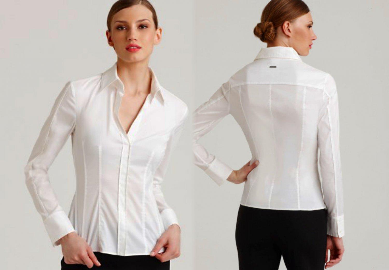 8125420822 US 14 Hugo Boss Bashina Blouse XLarge White ZippersBothSides Women's