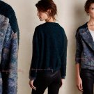 $248 Anthropologie Flora Moto Jacket Small 2 4 Blue Made in France