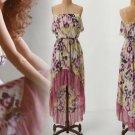 Anthropologie Ostara Mesh Chemise Medium 6 8 Dress NWT  Mulit Pinks Sweet Pea Wisteria