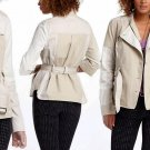 Anthropologie Jacket Coat 2P Small Petite Ivory Beige 2 Toned Cotton Runs Large NWT