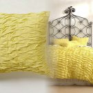 Anthropologie Ebba Jersey Euro Sham 1 Yellow Chartreuse One