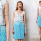 $168 Anthropologie Ruffled Tides Dress 8 Medium Sky Blue Sachin + Babi
