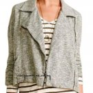 Anthropologie Marled Moto Jacket XSmall 0 2 Moss & Grey Soft Comfy
