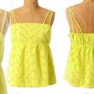Anthropologie Tennis Star Tank 10 Large Top Blouse Yellow Cotton