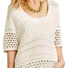 $248 Anthropologie Cloud Sweater Tee P / XS XSmall 2 White Knit Super Oversized