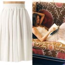 $138 Anthropologie Frayed Pleats Skirt Medium 6 8 by Organic Ivory NWT