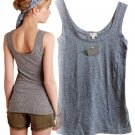 Anthropologie Layering Tank Petite XXS Heather Grey Tee Top Shirt