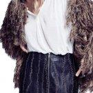 $198 Free People Ravished Leather Miniskirt 8 Medium Black
