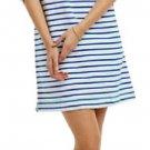 Anthropologie Tilda Chemise Small 2 4 Navy White Dress Striped Nautical Soft Eloise