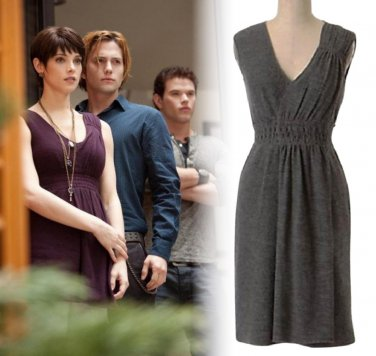 Anthropologie Cordial Embrace Dress Medium 6 8 Grey ASO Alice Cullen Twilight
