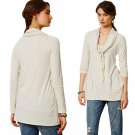 Anthropologie Cowlneck Comfort Shirt Medium 6 8 Slouchy Top Jersey Grey NWT