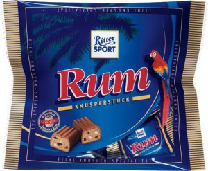 RITTER SPORT RUM - Crunchy chocolate bars - crispy - 200 g pack - from Germany- FRESH from Germany