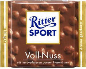 RITTER SPORT Chocolate Bar - Voll Nuss - 100 g - from Germany- FRESH from Germany