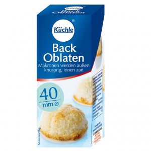Kuechle ® Back Oblaten - Wafer - 40 mm ø  - Gingerbread - Macaroons - Xmas