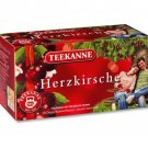 Teekanne Fruechtetee / Fruit Tea - HERZKIRSCHE / HEART CHERRY - 20 tea bags - FRESH from Germany