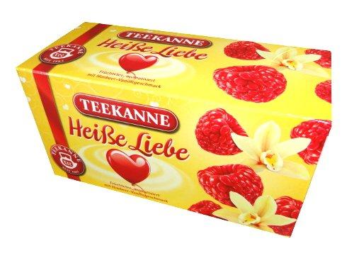 Teekanne Fruechtetee / Fruit Tea - HEISSE LIEBE / HOT LOVE - 20 tea bags - FRESH from Germany